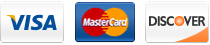 Derma accepts Visa, Mastercard, & Discover Credit